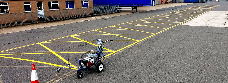 Hazard safe zone markings