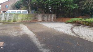 Car park and rain leaf removal