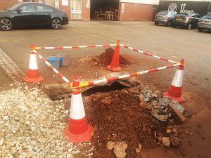 extensive drain repairs