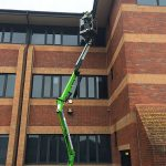 commercial High reach gutter cleaning