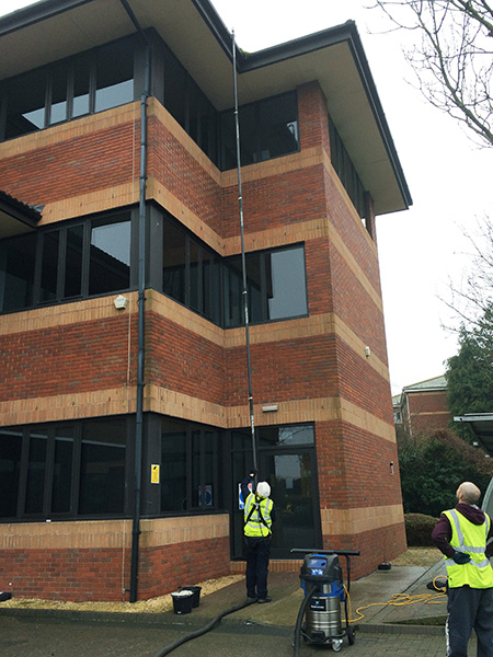 High Reach Gutter Cleaning And Moss Spraying Across The