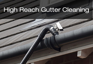 High reach gutter cleaning