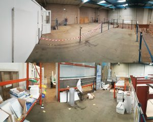 Industrial unit renovation dilapidation