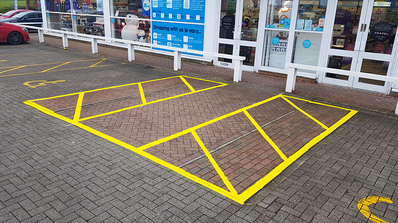 Line marking car parks