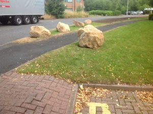 Grounds repair Retail lorry barrier