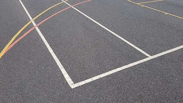 Playground line marking sport